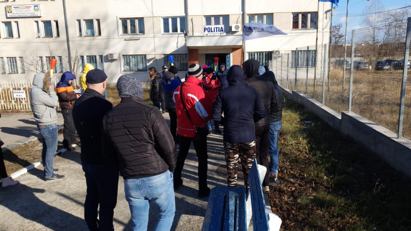 protest politia mangalia