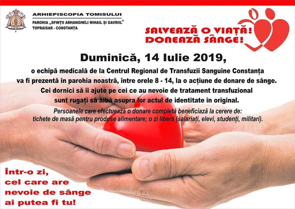 Donare de sange Topraisar