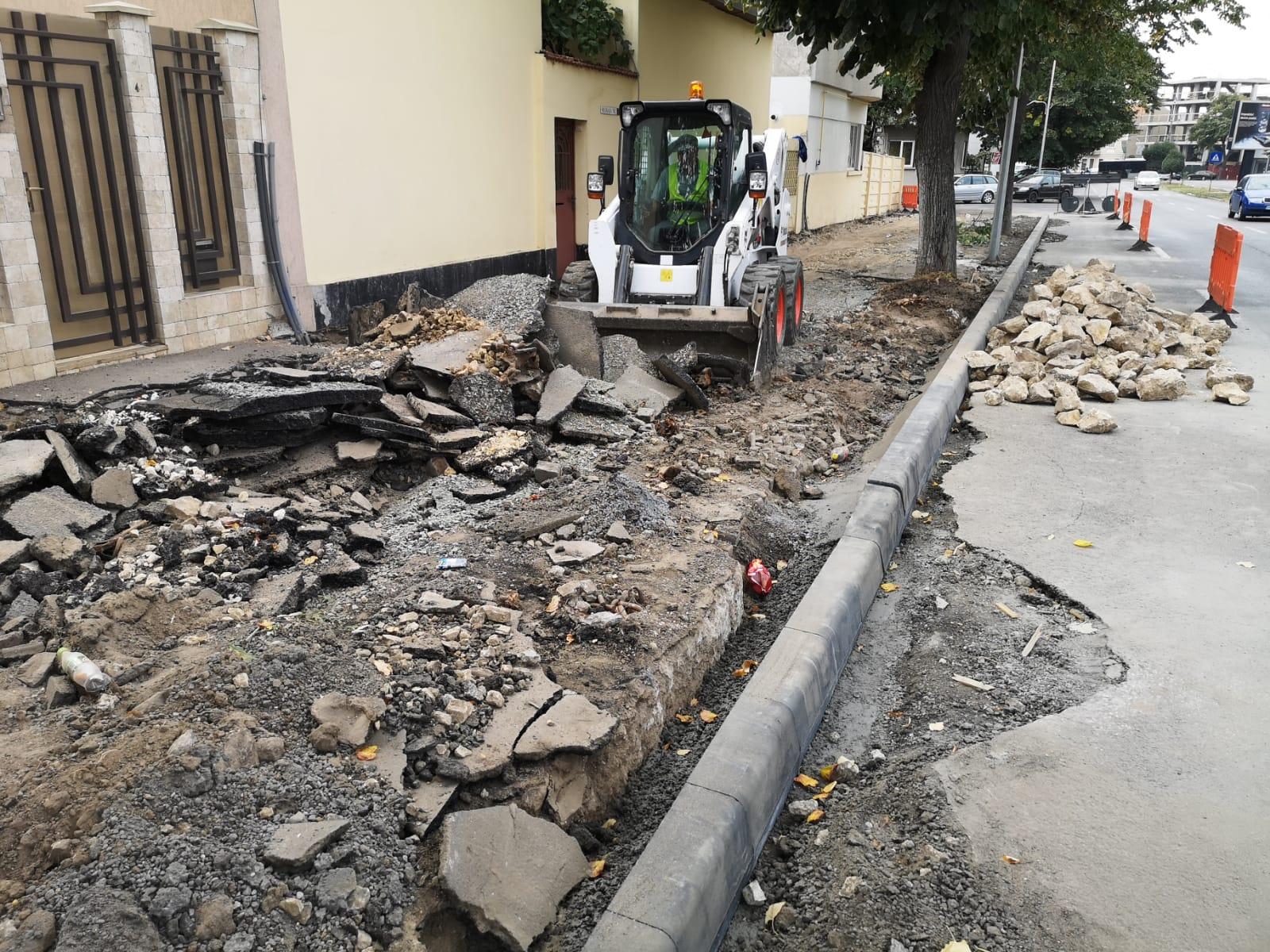 reabilitare trotuare bulevardul Mamaia 3