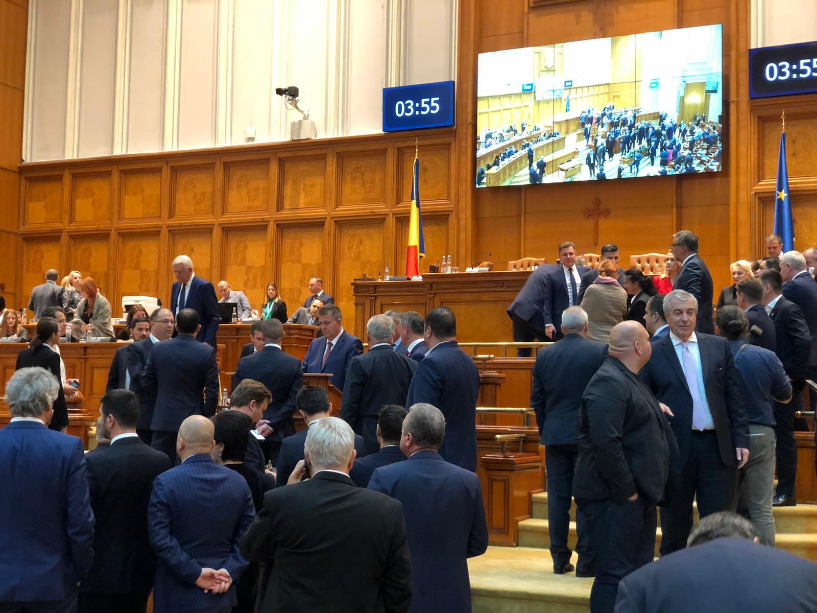 camera parlament motiune