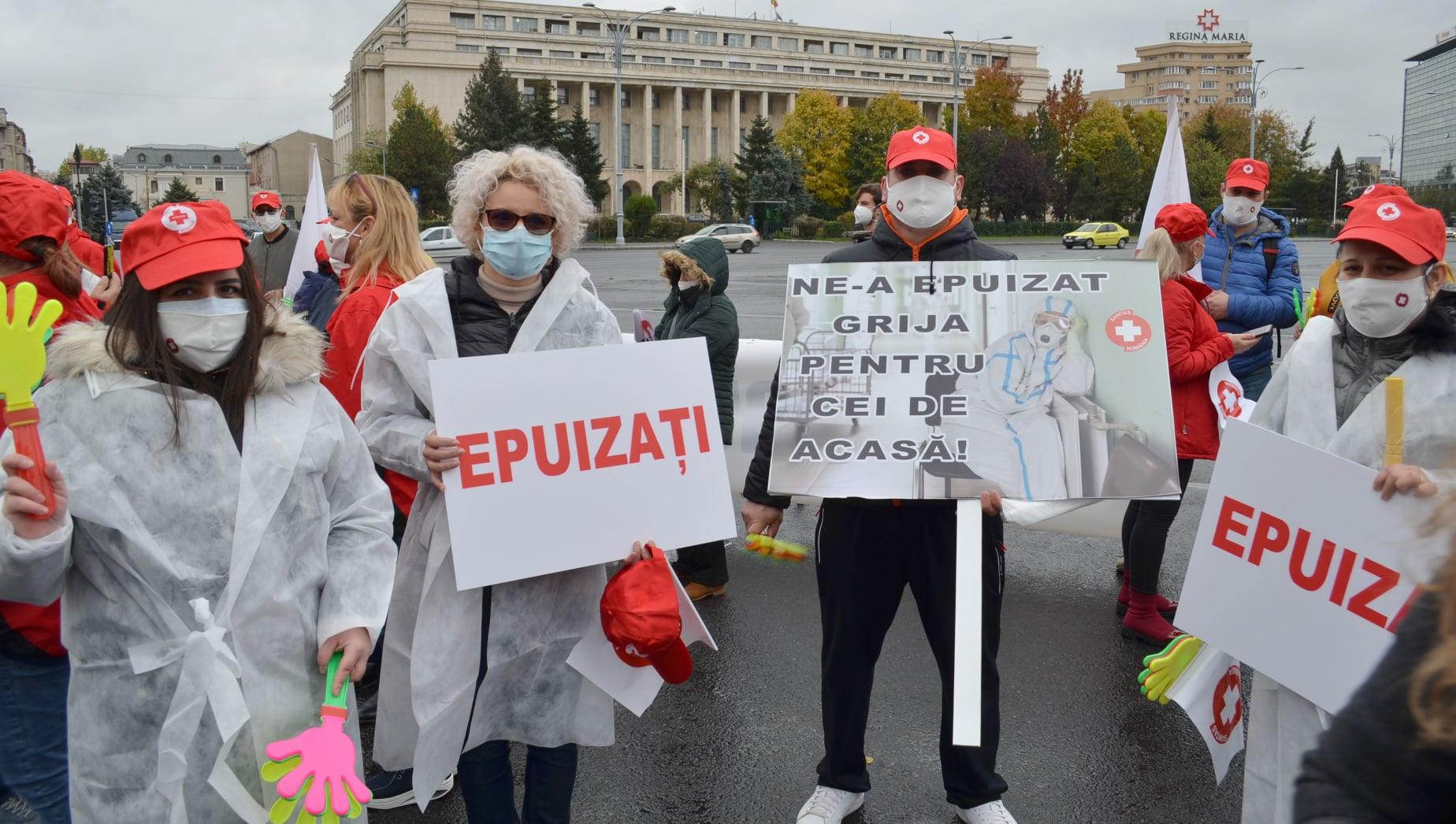 sanitas doctori medici protest