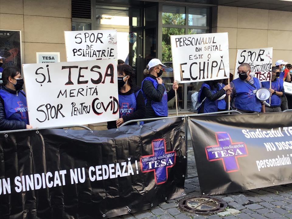 protest sindicat uniunea tesa