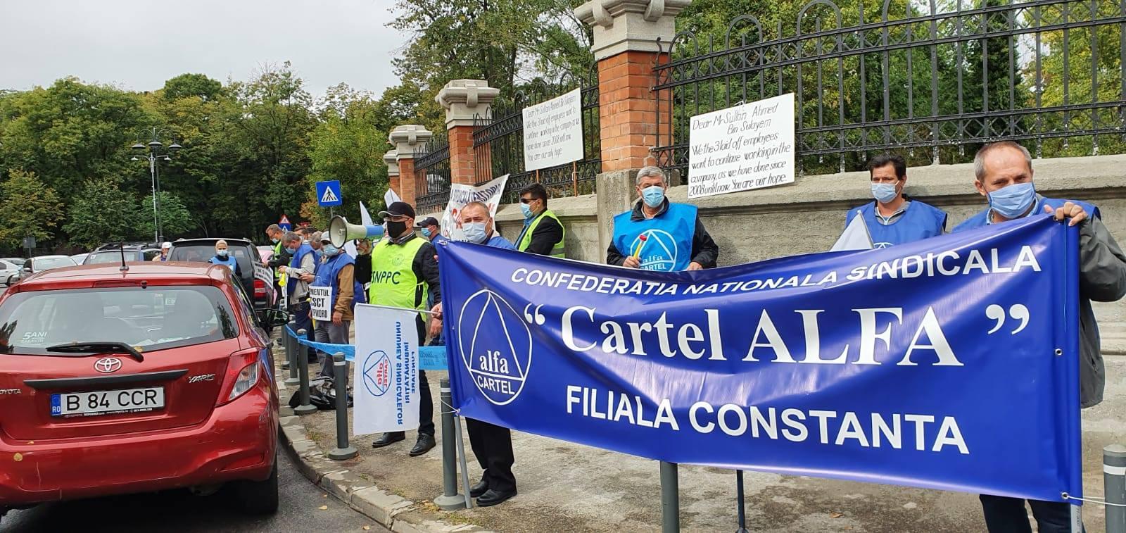 cartel alfa constanta protest