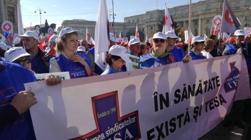 uniunea tesa protest sanatate medici