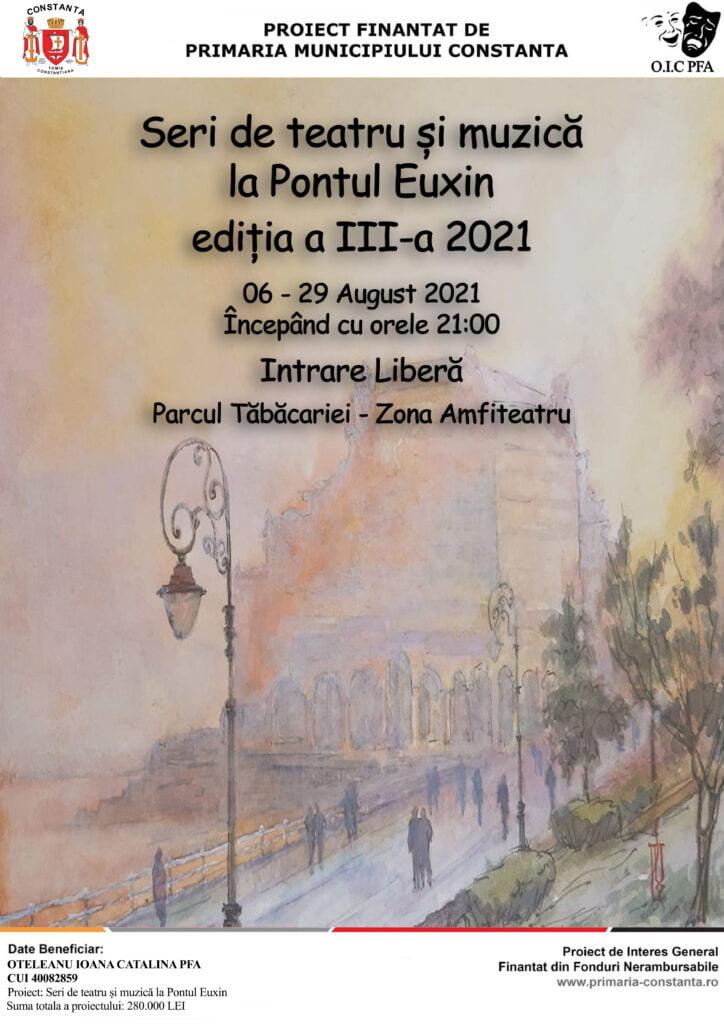 afis Seri de teatru si muzica la Pontul Euxin