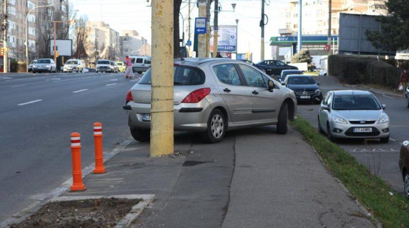 parcare trotuar